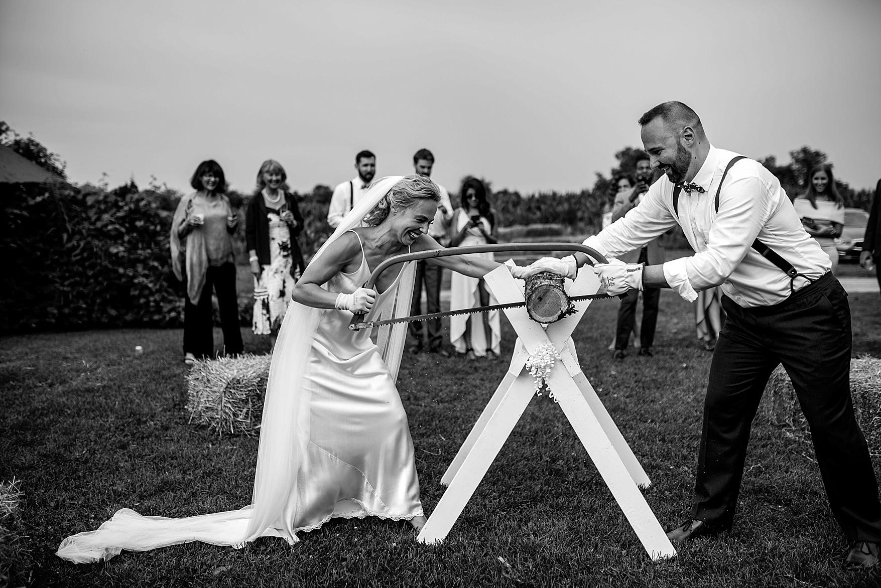 Fields on West Lake wedding